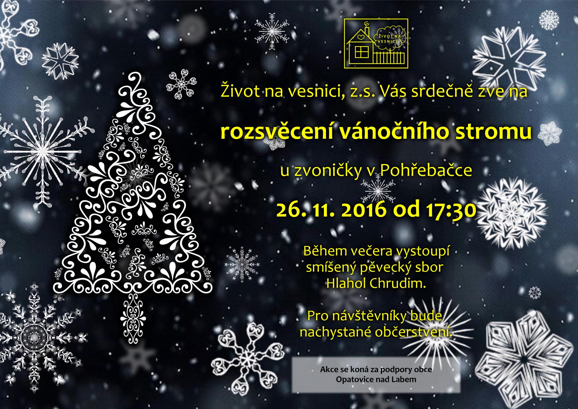 Pozvánka na rozsvěcení vánočního stromku